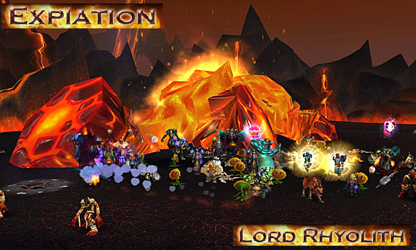 Screenshot of Expiation downing Lord Rhyolith  in Firelands